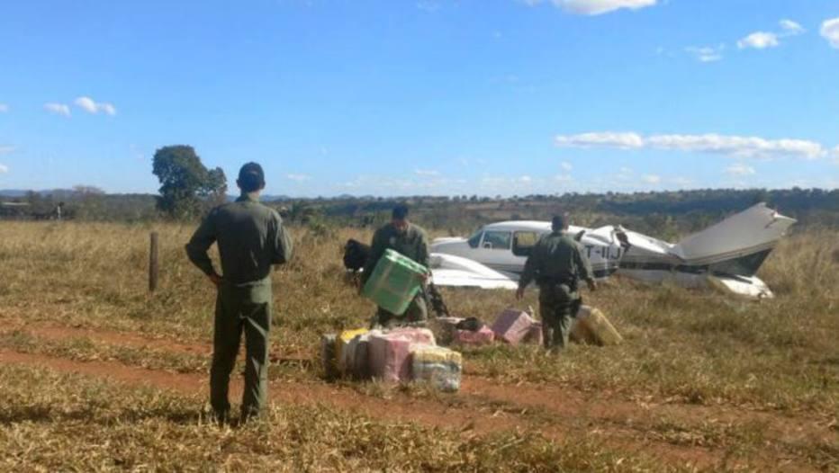 GPS confirma que avião com mais de 600 kg de cocaína decolou da Bolívia