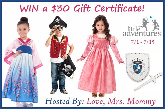 $30 Little Adventures Gift Certificate Giveaway!