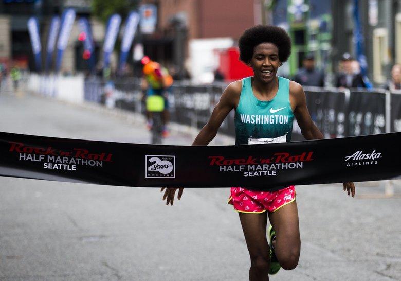 Incoming UW freshman Tibs Proctor wins men's half-marathon