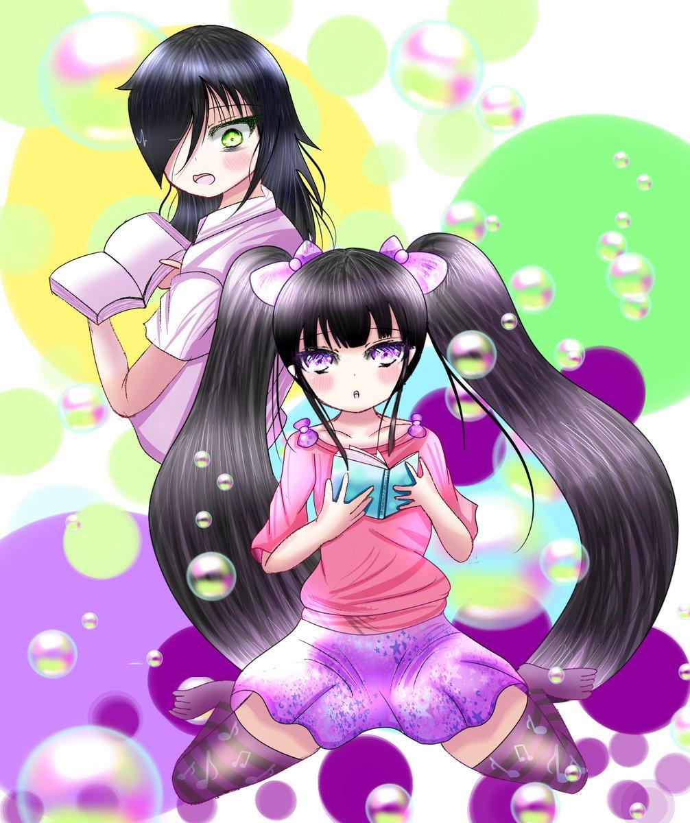 #ライト姉妹#ワタモテ#二刀流スキルで異世界無双ワタモテのもこっちとライト姉妹の水樹奏愛ちゃんです!谷川ニコ先生の描く黒