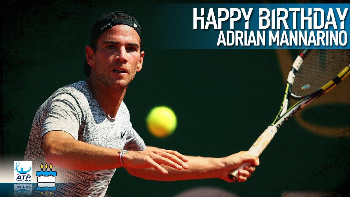 Happy 29th birthday @AdrianMannarino! Bon anniversaire �� View #ATP Profile: https://t.co/te8FtoxEVF https://t.co/7VIvT33PTI
