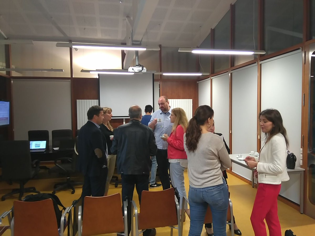 test Twitter Media - A coffee break during the LEAP project meeting. Lean applied to higher education-industry.Do you know the project?  https://t.co/g739SDcYJX https://t.co/HTEwWNAvI8