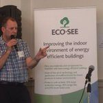 "Andy Dengel @BRE_Group ""#energyefficiency could worsen #IndoorAirQuality, but #ecomaterials for #buildings can help solve it"" #Ecosee"