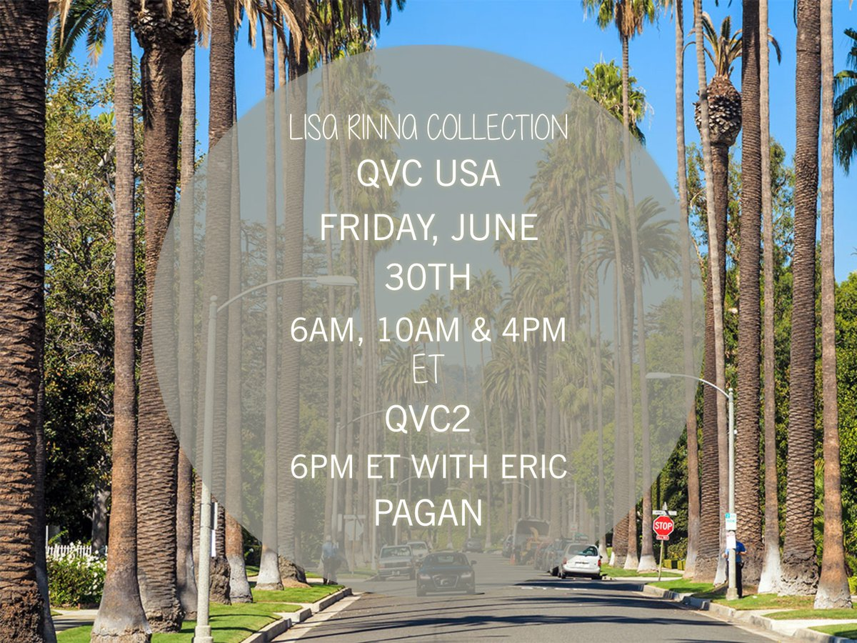 Shop with me tomorrow on @QVC! #LisaRinnaCollection https://t.co/oZ0I9Tp0pI