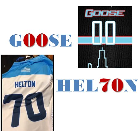 Cracked the code on @Goose00Helton&#039;s #WCBU2017 70 jersey....G00SE HEL70N!  #1337Speak https://t.co/vMhhE8gbWY <a href='https://twitter.com/sludgebrown/status/880507691055157248/photo/1' target='_blank'>See original &raquo;</a>