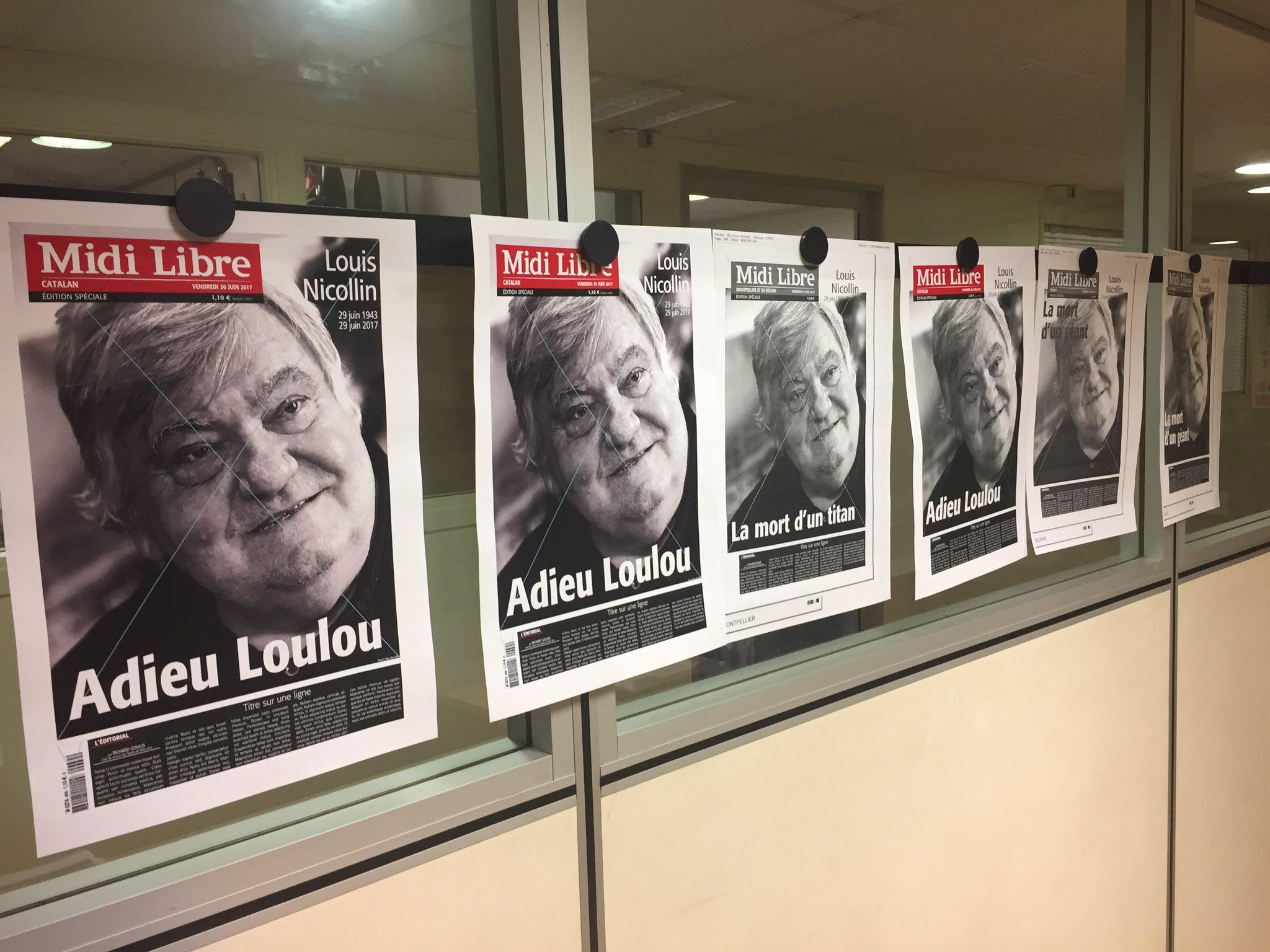 #Football Mort de Louis Nicollin - Midi Libre publie une édition spéciale de 8 pages vendredi 30 juin. https://t.co/VDUaI3rbmX