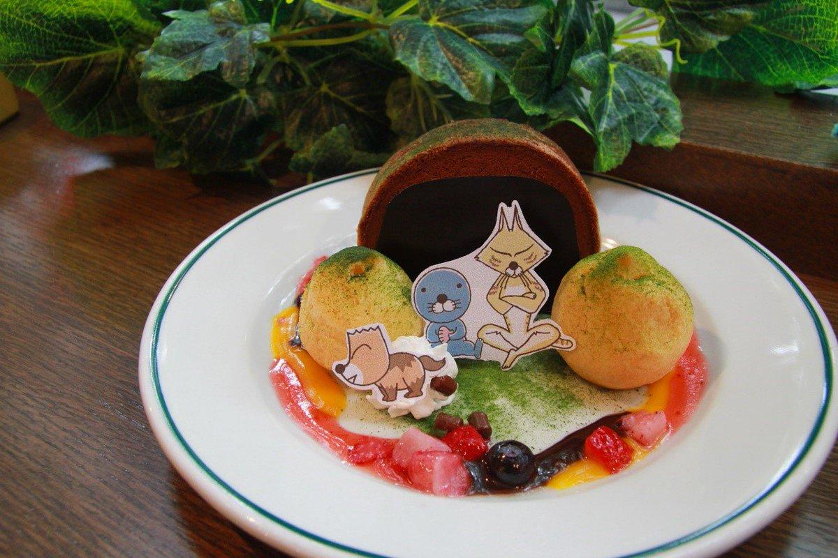 現在開催中の『ぼのぼの森カフェ』に、7月3日より「スナドリネコさん」と「クズリくん」と「ぼのぼの」のスペシャル仕様スイー