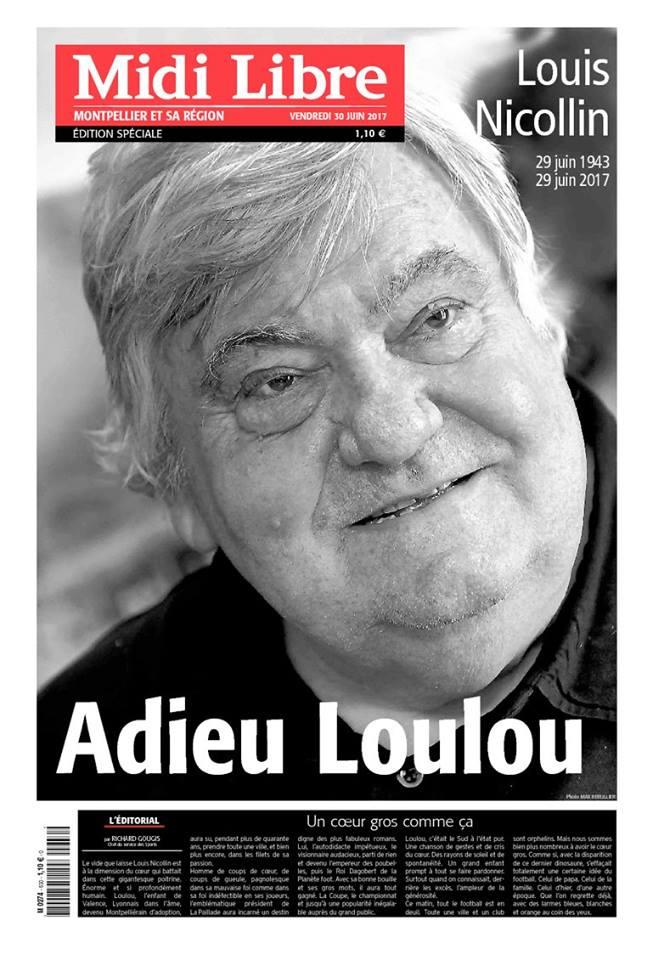 Supplément spécial consacré à la mort de Louis #Nicollin aujoud'hui en kiosque. #Montpellier ne t'oubliera pas. #MHSC https://t.co/yVqRmGAa3i