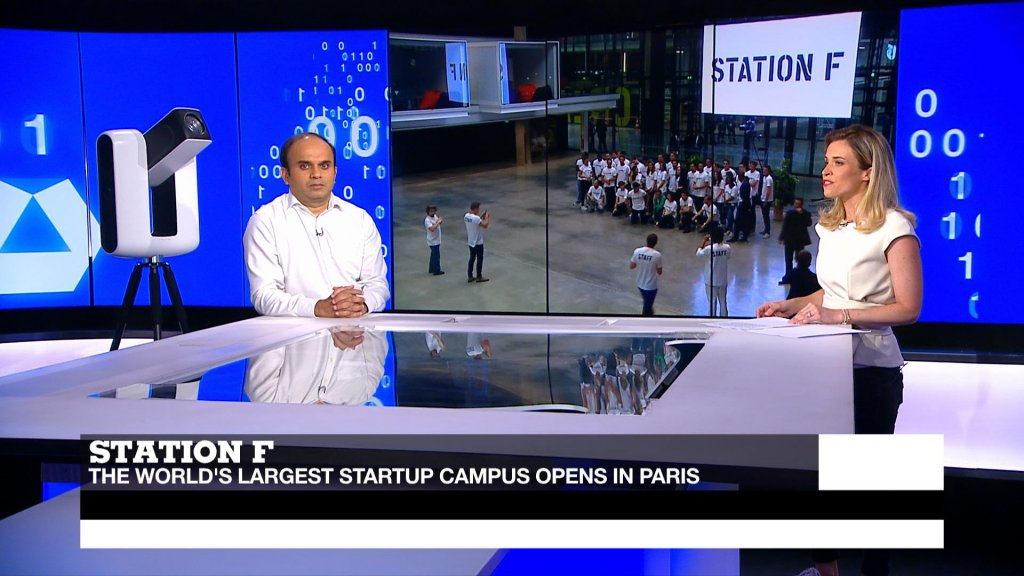 TECH 24 - Station F: World's largest startup incubator opens in Paris