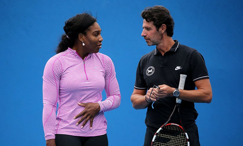 Serena Williams' coach was 'angry' she didn't reveal her pregnancy to him: