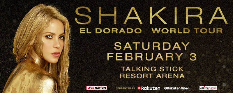 Don't miss @shakira when she comes to #tsrarena on Saturday Feb. 3rd! ��️on sale now! Link: https://t.co/xH6wGUvd1w https://t.co/UxzAlsuLFr