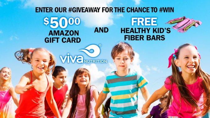 $50 Amazon (1) 3 Boxes vivaNUTRITION Bars (2) GA-US-Ends 7/11