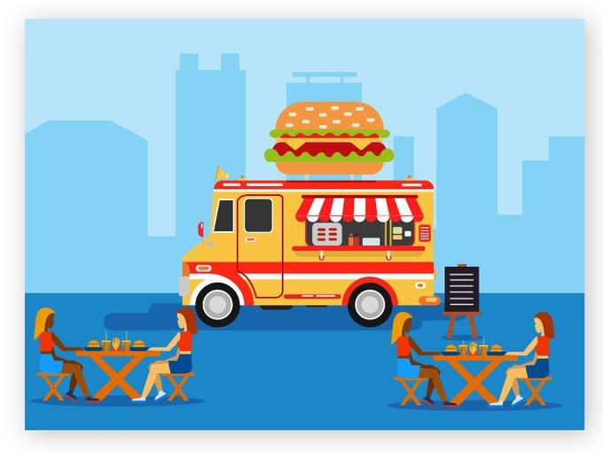 Material Design Food Truck   Illustrations by MeUiDesigner freebie