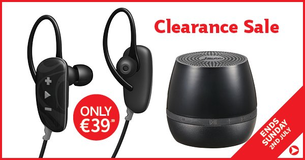 Jam Classic Bluetooth Speaker & Fusion Buds Headphones - now only €39.99! Offer ends today - https://t.co/x8iFOTrB4t https://t.co/zX0LratjnI