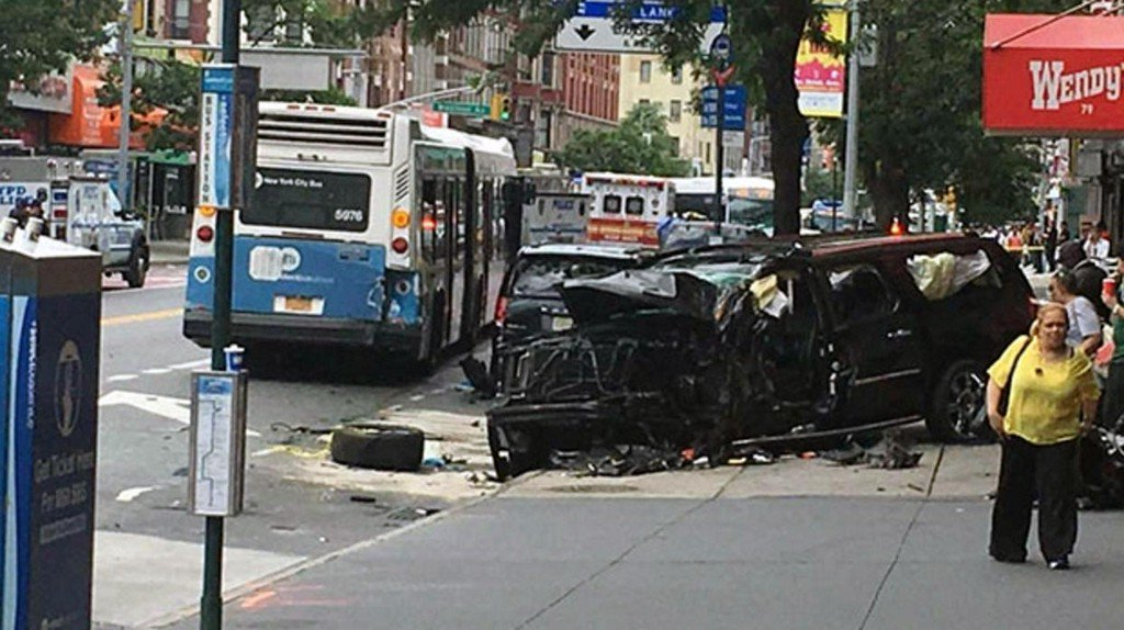 At least 12 injured after SUV strikes pedestrians in New York City