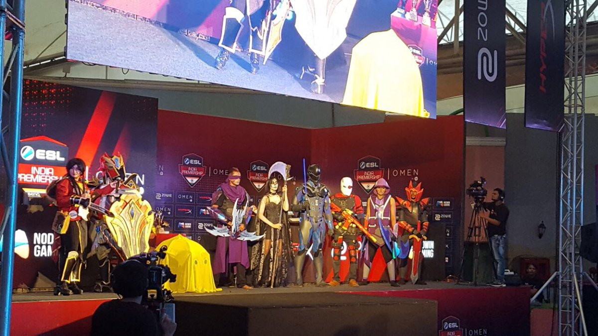 ESL Cosplay Mania Anime and cartoons come alive Omen By HP ESL Premiership Summer Finale