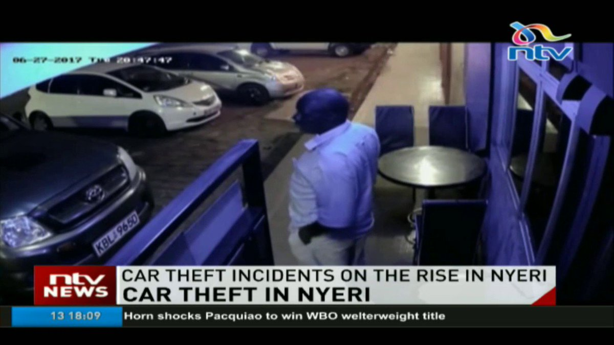 Car theft incidents on the rise in Nyeri