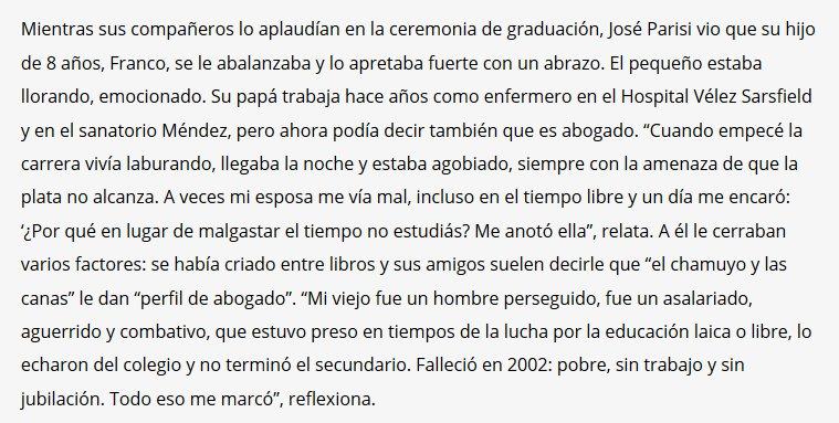 Enfermero y abogado. Los primeros egresados de abogacía de José C. Paz https://t.co/GsyjTVNEBr https://t.co/zjHlbQRwNh