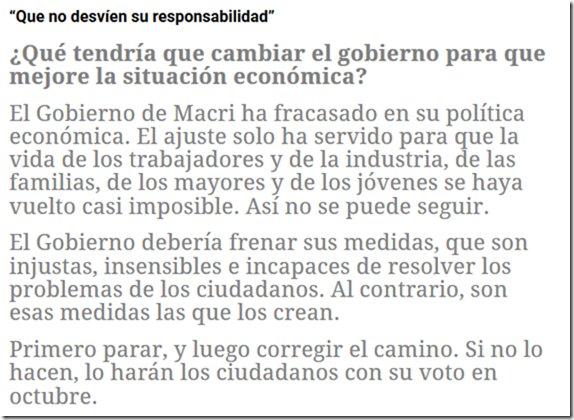 """""""El Gobierno de Macri ha fracasado en su política económica."""" @jorgetaiana https://t.co/dG8v0VoZsv"""