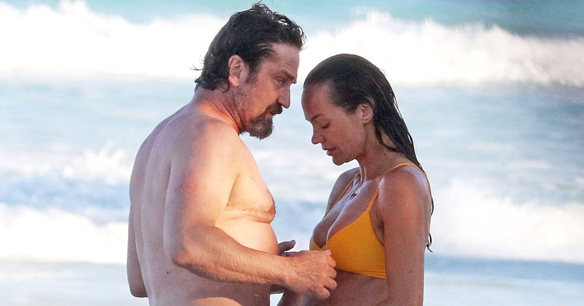 On Again? Gerard Butler and Morgan Brown Spotted Getting Close on Mexico Beach