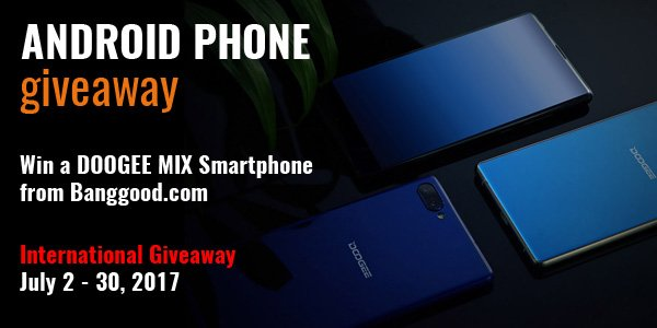 Android Phone Worldwide Giveaway Ends 7/30 @banggood