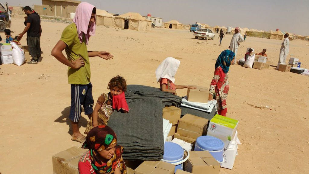 Deadly suicide bombing hits refugee camp in Iraq