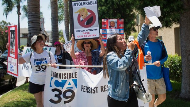 California marchers call for impeachment of U.S. President Trump