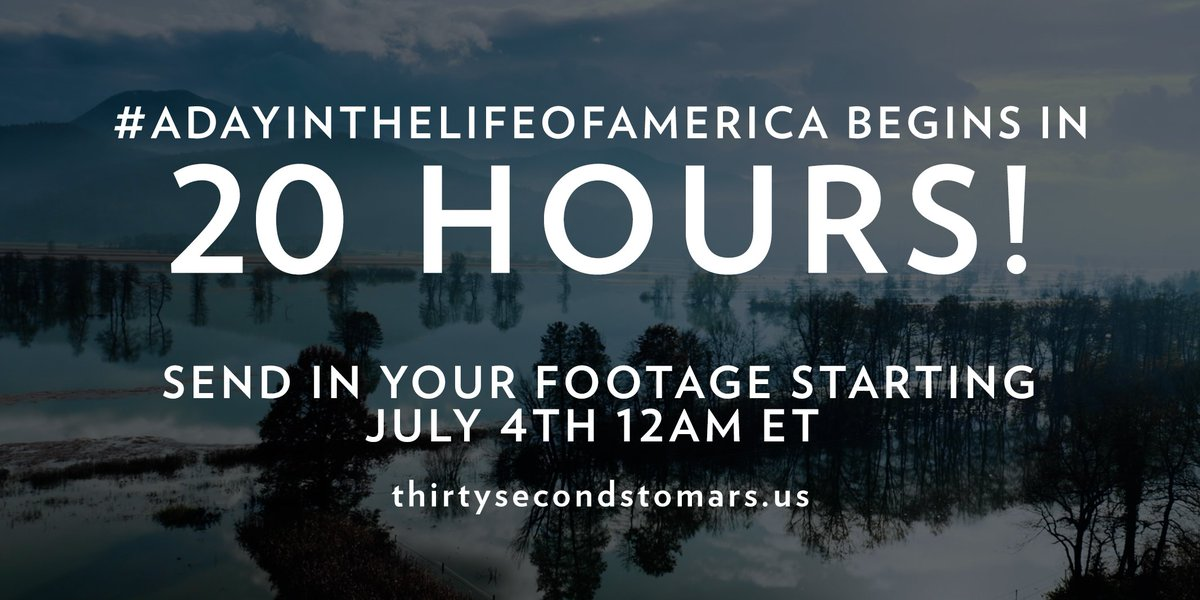 20 HOURS. #ADayInTheLifeOfAmerica https://t.co/knO82tZX20 https://t.co/ZkVLD2DZO6