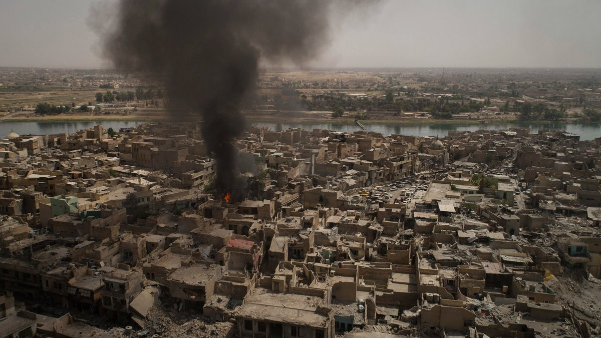 Female suicide bombers target soldiers as Islamic State militants hit back in Mosul, Iraq