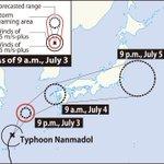 JMA warns of heavy rain, landslides as typhoon nears Kyushu