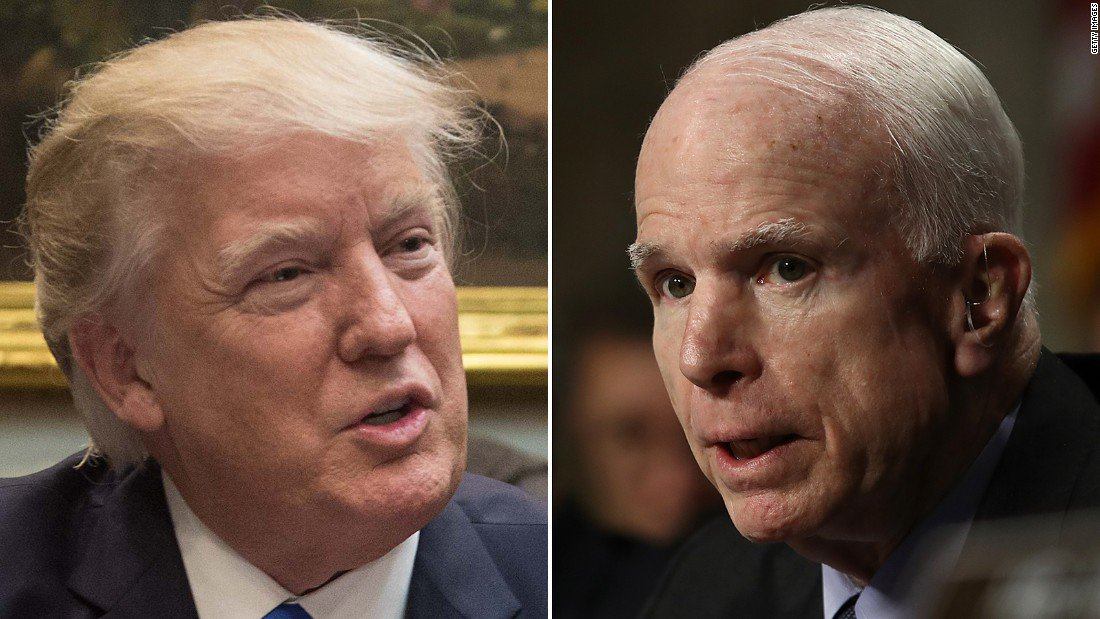 President Trump wishes Sen. John McCain well and calls him a 'crusty' Senate voice https://t.co/PxYGGkdiqV https://t.co/QAGcdlZL9j