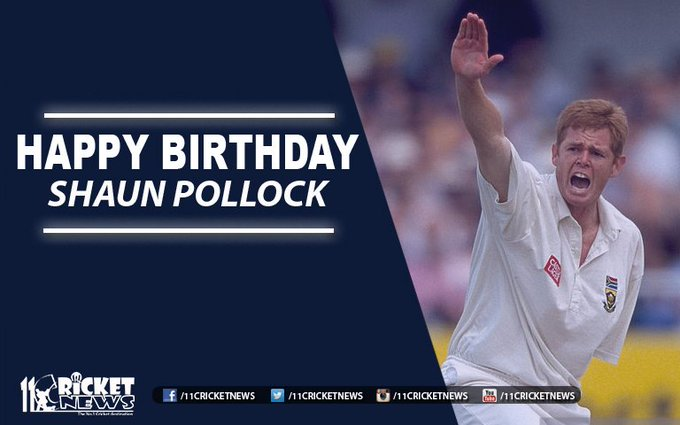 "Happy Birthday "" Shaun Pollock\"". He turns 44 today"