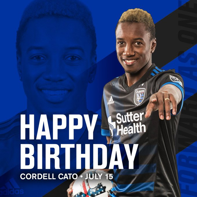 Join us in wishing Cordell Cato a very happy birthday!