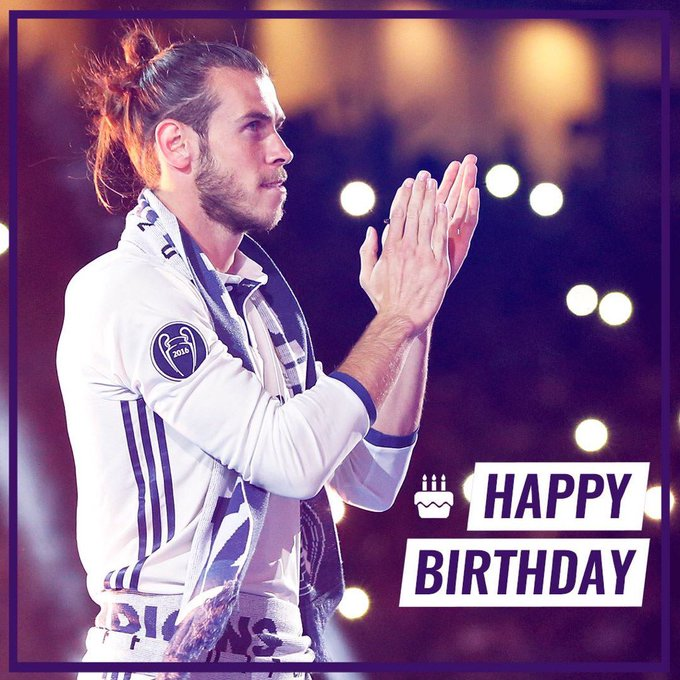 Happy birthday to Gareth Bale, who turns 28 today!