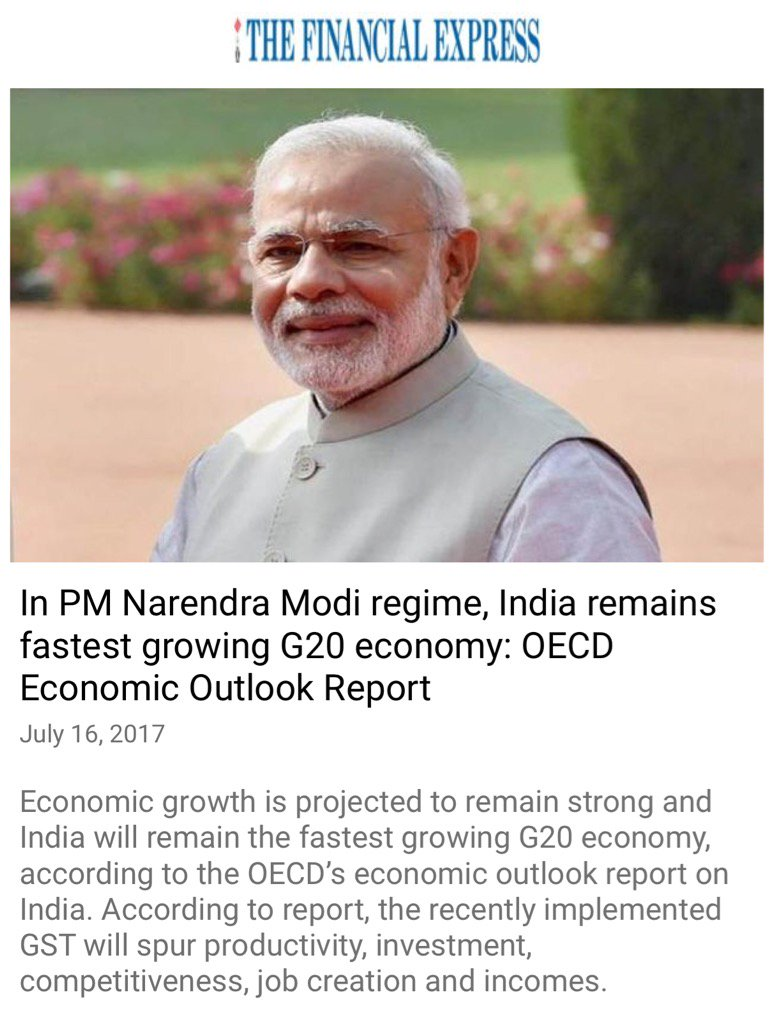 India remains fastest growing G20 economy: OECD Economic Outlook Report https://t.co/9bLuDWp7fB  via NMApp https://t.co/OqMrCrYBFf