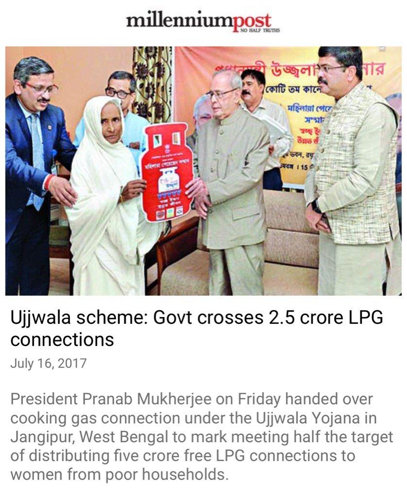 Ujjwala Yojana crosses 2.5 crore beneficiaries.  https://t.co/kxAgxDLuWP  via NMApp https://t.co/wGoXC1PFLC