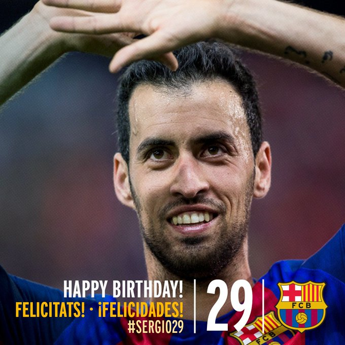 Happy 29th birthday Sergio Busquets!!