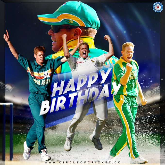 South Africa\s highest wicket-taker in both ODI and Test cricket Happy birthday, Shaun Pollock