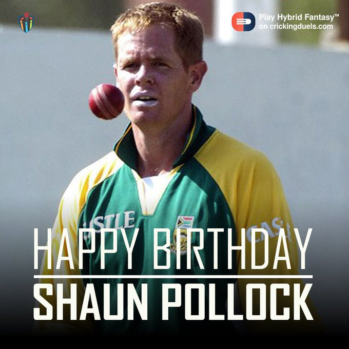 Happy Birthday Shaun Pollock. The former South African cricketer turns 44 today.