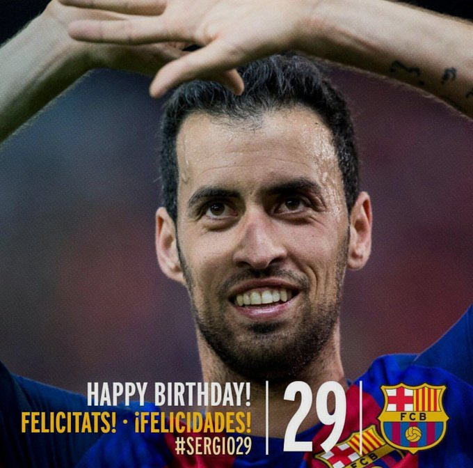 The most underrated CDM celebrates his birthday today! Happy birthday Sergio Busquets