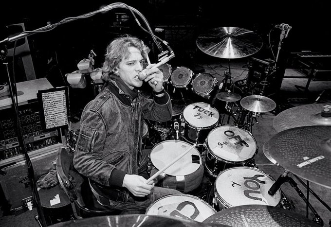 Happy birthday to Stewart Copeland. Photo from 1982.
