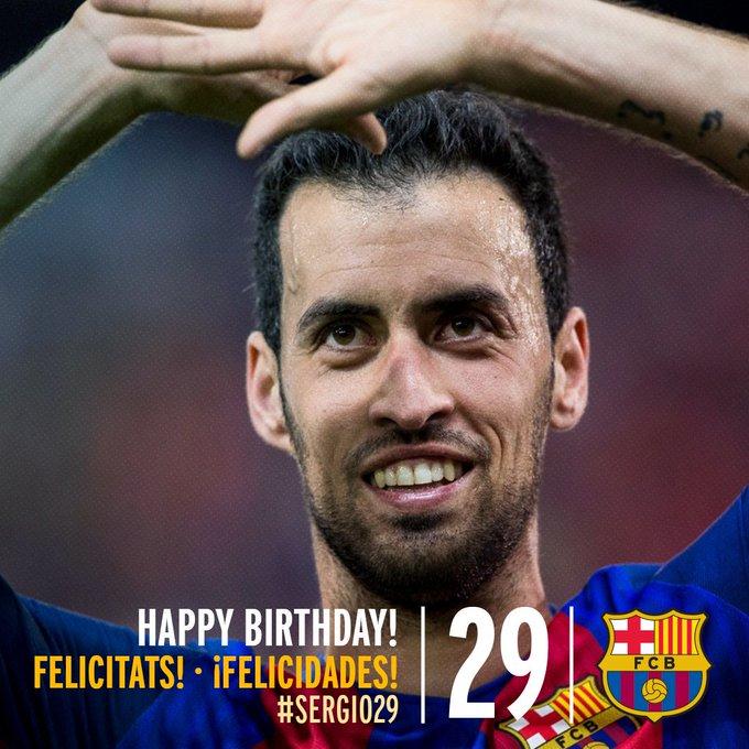 Feliz cumpleaños Sergio Busquets    // Happy birthday Sergio Busquets