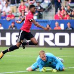 LA Galaxy 2-5 Man United: Marcus Rashford hits double as Romelu Lukaku makes debut