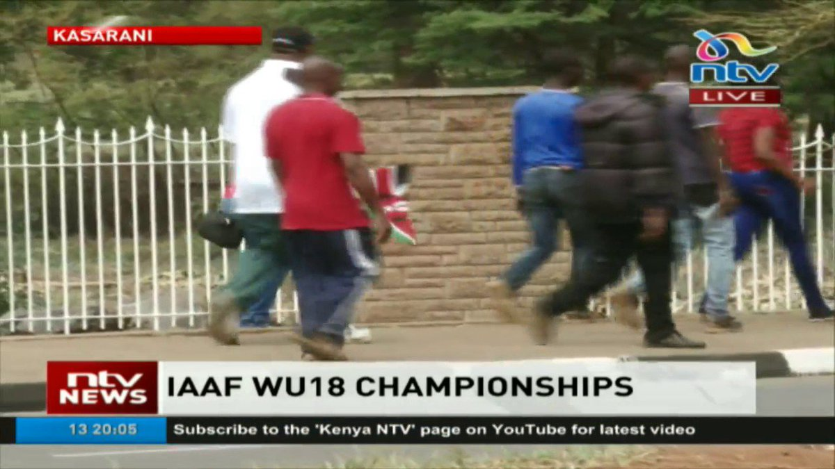 Fans turn out in large number to cheer team Kenya at Kasarani for the IAAF WU18 finals