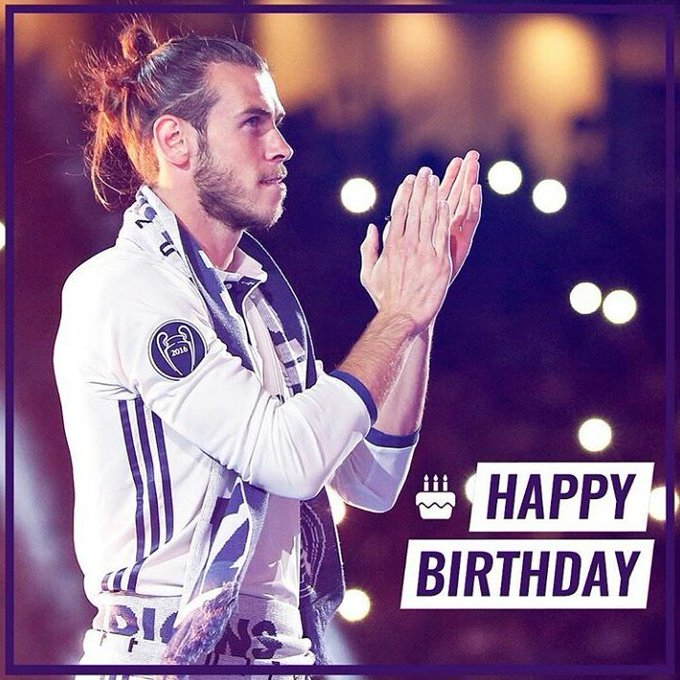 Happy Birthday to Gareth Bale 16/07/2017