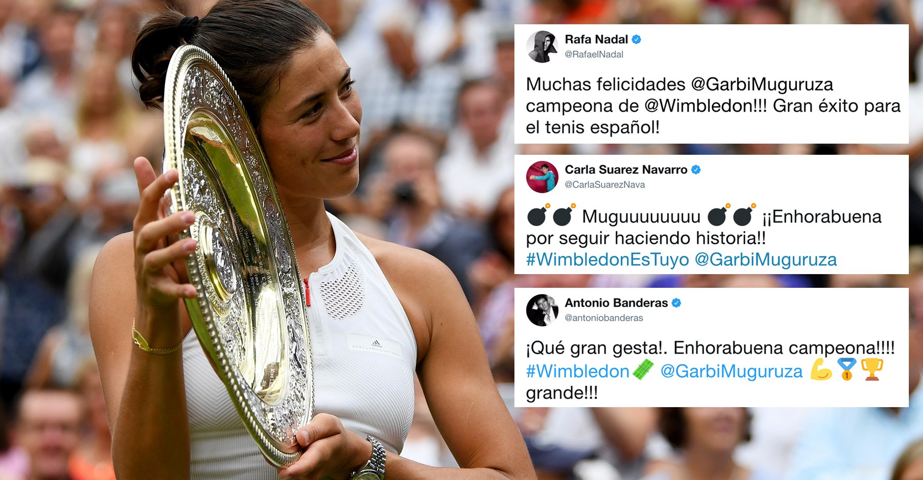 ���� stars & celebrities congratulate #Wimbledon champion @GarbiMuguruza--> https://t.co/LPcX0S9EGk https://t.co/N2JAhyyVdu