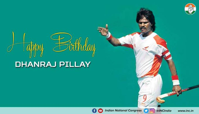 Wishing former captain of the Indian national hockey team, Dhanraj Pillay a very Happy Birthday.