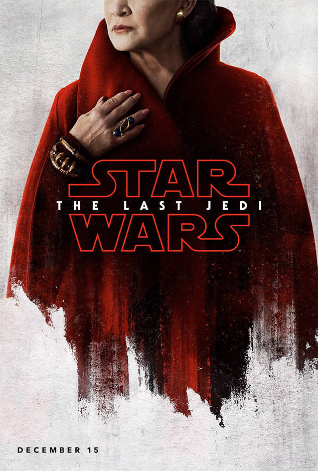 Carrie Fisher's poster for Star Wars: The Last Jedi has been revealed.