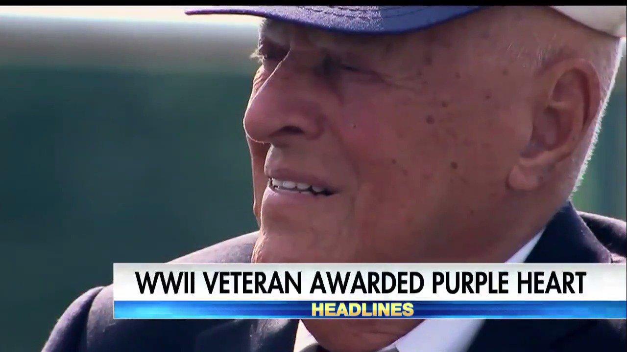 World War II veteran awarded Purple Heart. #ProudAmerican https://t.co/27IEnpfeys