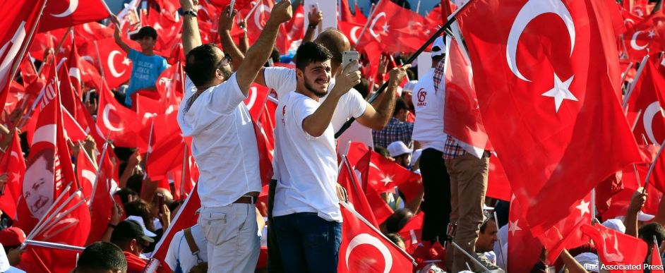 Turkey marks anniversary of country's crushed military coup with a series of rallies